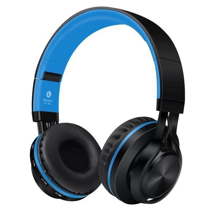 4 En 1 Stéréo Casque Bluetooth Sans Fil Écouteur Sport Audio Filaire Wireless Headphones Microphone Fm Radio /tf Carte