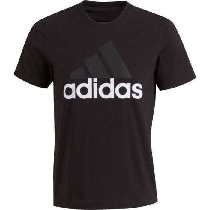 51af656470eec ADIDAS T-shirt Essentials Linear - Homme - Noir Noir - Achat   Vente ...