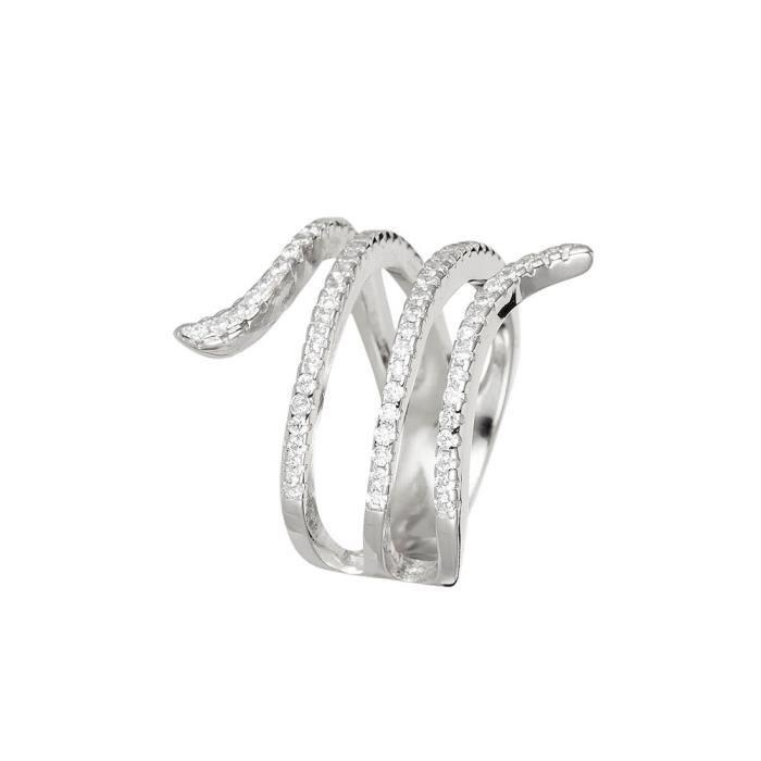 Mes-bijoux.fr - Bague Femme Serpent Distinction en Argent 925-1000 - 8FB5969gv