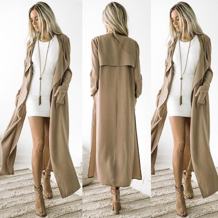 Manteau femme long jusqu au cheville