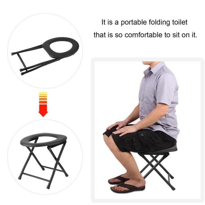 Chaise Perce Pliante Pour WC Toilette Sige Portablebassin De Lit
