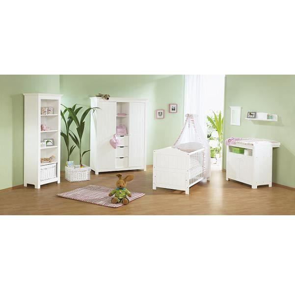 Chambre bébé Nina en massif avec grande armoire - Achat / Vente ...
