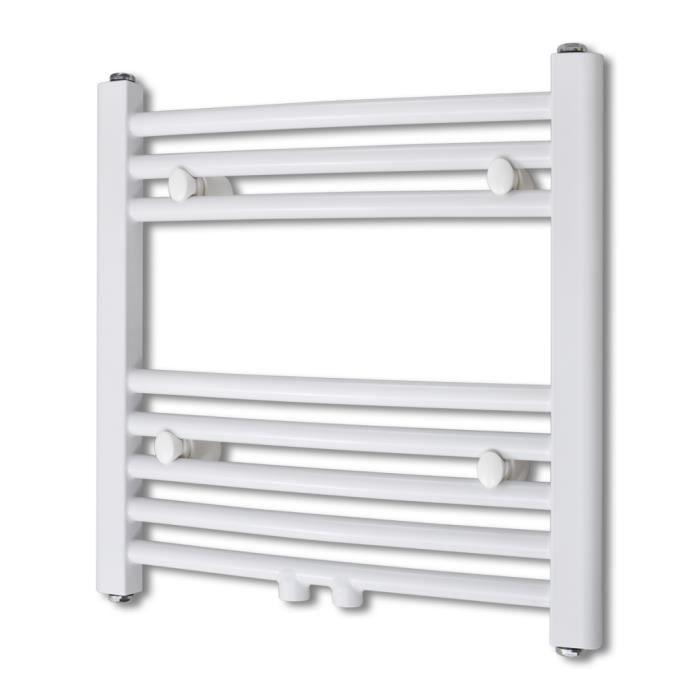 480x480mm Sèche-Serviettes radiateur Chauffage Central Incurvé +  Connecteurs pour Salle de bain maison