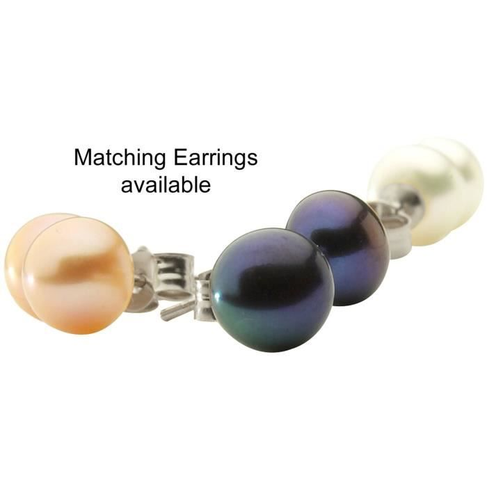 Colliers de perles à trois rangées - soie nouée/perles sélectionnées individuellement - 46 cm