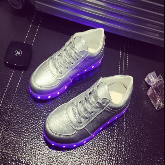 Chaussures Glowing LED Gris