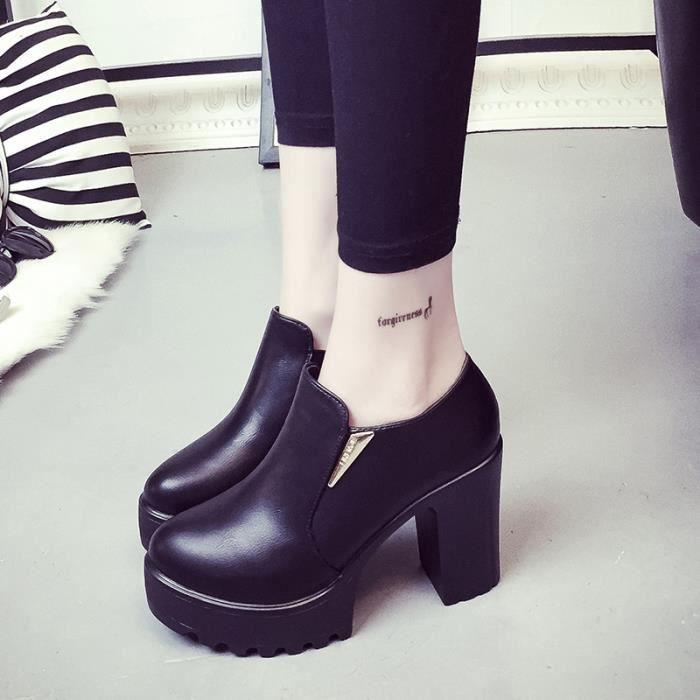 Martin bottes chaussure fermeture à glissière ronde femme