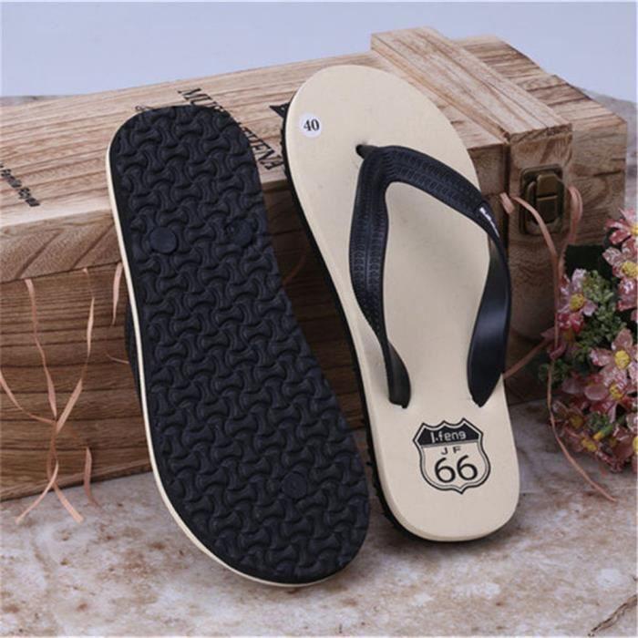 Tong Hommes Flip Flops Confortable Casual Pantoufle Sandales En Caoutchouc Casual Respirant Hommes Chaussures ete Mode Plage Flip