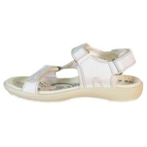 Primigi Sandales pour Fille Blanc Cuir Velcro 68593 XZPw47dDbA