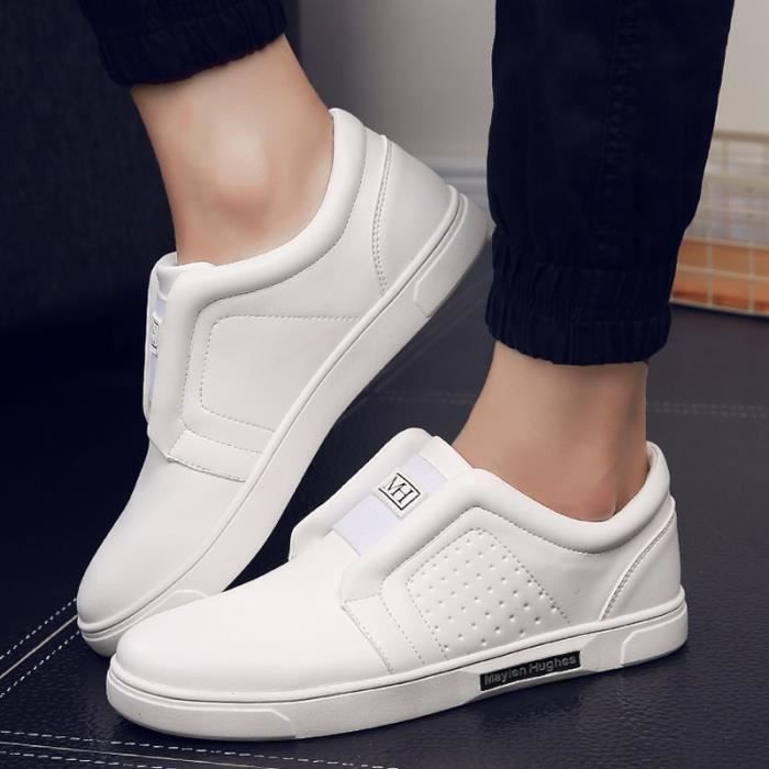 Bottes de l'automne à fond chaussures élevées version coréenne de chaussures pour les Hommes britanniques, brun 42