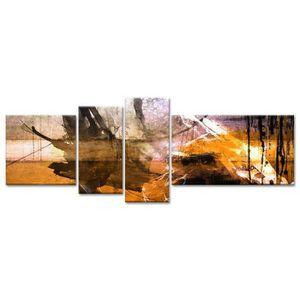 TABLEAU - TOILE Tableau Déco Peinture Abstraite Encre et Taches -
