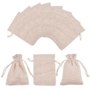 POCHETTE CADEAU 50pcs Pochettes Sachet d'emballage en Tissu Imprim