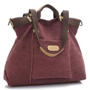 PORTE MONNAIE Women's Handbag, Canvas Large Totes Shoulder Bag H