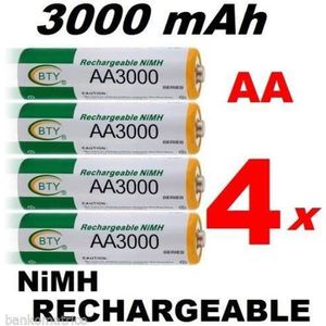 PILES 4 Piles rechargeables AA Ni-MH 3000 mAh 1.2V LR06