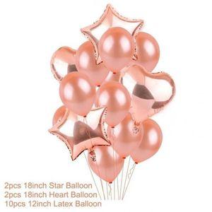 BANDEROLE - BANNIÈRE 12 Pcs Feuille D'Hélium Ballons Joyeux Anniversair
