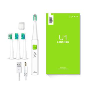 BROSSE A DENTS ÉLEC Couleur Blanc avec point vert Brosse à dents USB c