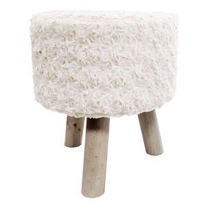 tabouret fourrure achat vente tabouret fourrure pas cher soldes d s le 10 janvier cdiscount. Black Bedroom Furniture Sets. Home Design Ideas