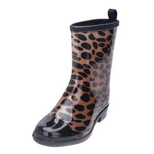 BOTTE Non-Slip Bottes de pluie extérieure en caoutchouc