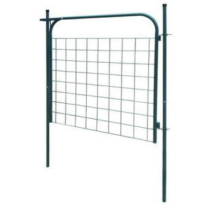 Portail de clôture de jardin 100 x 100 cm Vert Portail Portillon ...