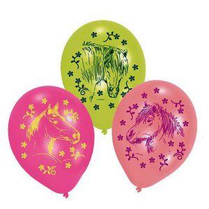 BALLON DÉCORATIF  Ballons de baudruche - Chevaux : Lot de 6 ballons