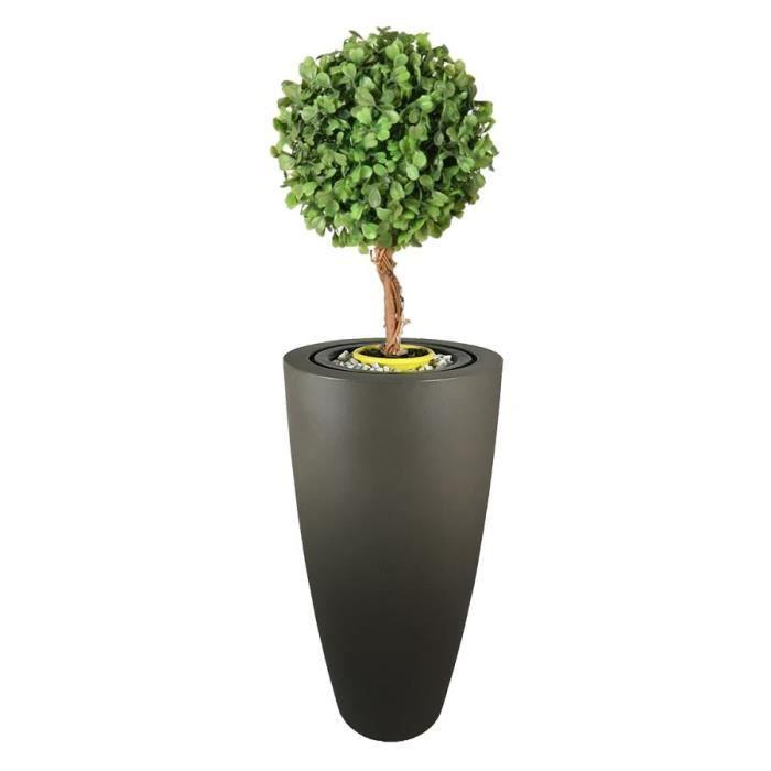 Pot de fleurs conique Delight - 200 L - Taupe