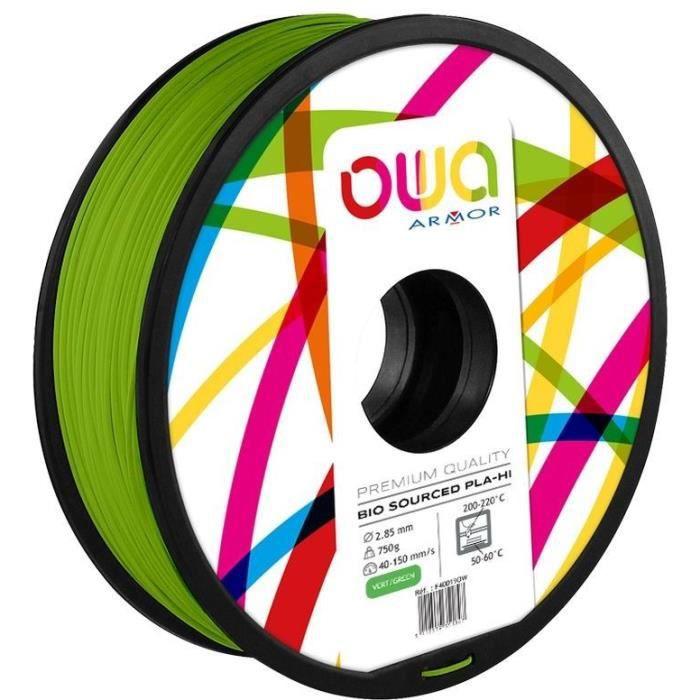 OWA Bobine de Filaments pour imprimante 3D - PLA Hi - Vert