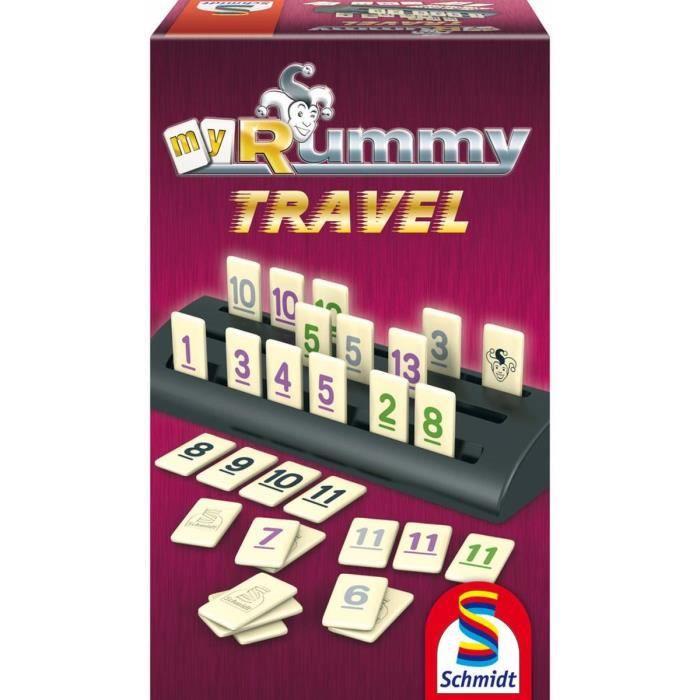 SCHMIDT AND SPIELE Jeu de société - MyRummy Travel - Mixte - A partir de 8 ans - Livré à l'unitéJEU DE SOCIETE - JEU DE PLATEAU