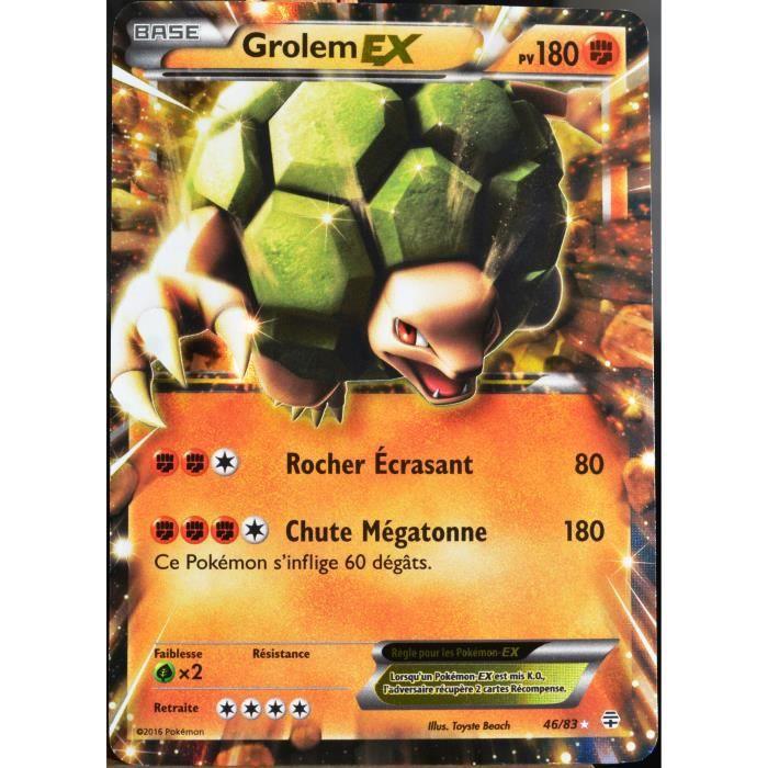 Carte pok mon 46 83 grolem ex 180 pv ultra rare - Photo de pokemon rare ...