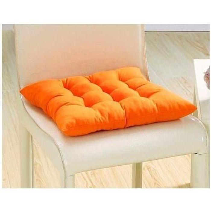 COUSSIN DE CHAISE 1Galettes De Chaise Coussin Orange A