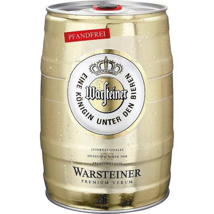 warsteiner pils baril de bière 5 litre - achat / vente bière