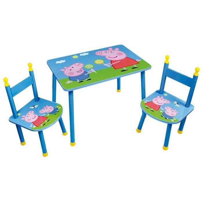 Table et chaise peppa pig achat vente pas cher for Ensemble table et 4 chaises pas cher