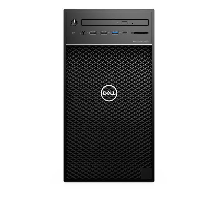 UNITÉ CENTRALE + ÉCRAN DELL Precision 3630, 3,7 GHz, Intel® Core™ i7 de 8