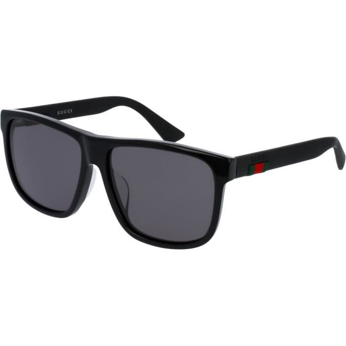 Lunettes de soleil Gucci 0010 SA Noir Gris 59 - Achat   Vente ... 5e830ae91bf8