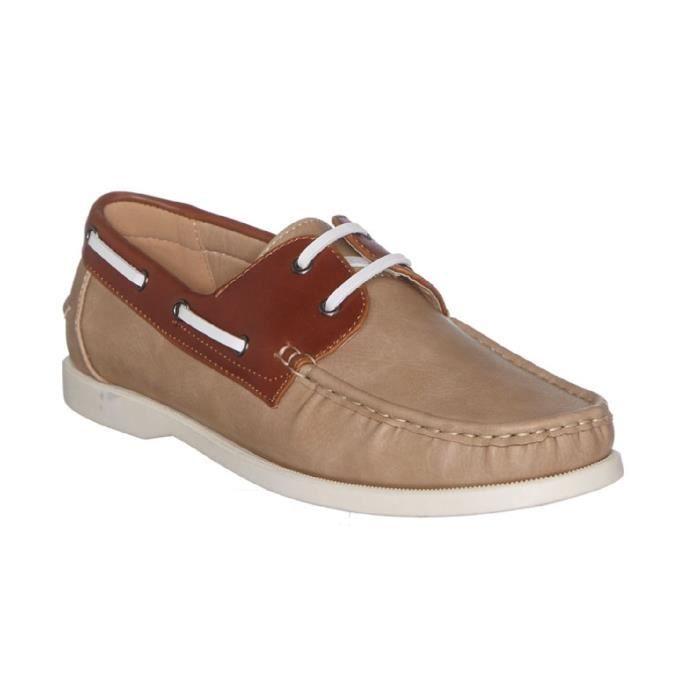 Chaussures bateau causal et tendance BEIGE