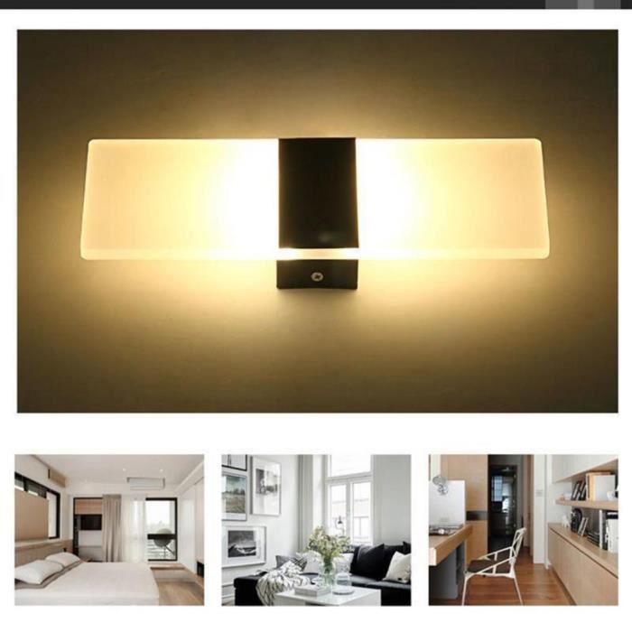Up Down Moderne Chaud Mur Rectangulaire Chambre Lampe Luminaire 10mm Led Éclairage Noir Cube Blanc Applique 14060 wXZTiuOPlk