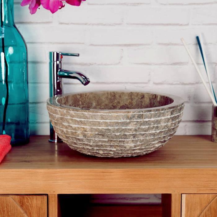 lave mains en marbre v suve pierre gris taupe 35cm achat vente lave main lave mains en. Black Bedroom Furniture Sets. Home Design Ideas