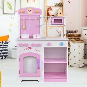 cuisine enfant bois rose achat vente jeux et jouets pas chers. Black Bedroom Furniture Sets. Home Design Ideas