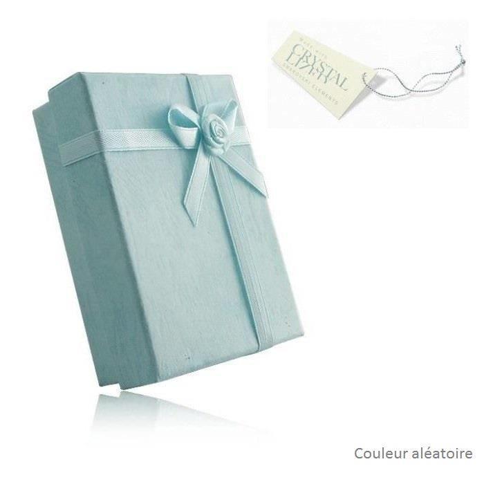 Collier chat cristal swarovski elements coeur plaqué or Couleur Bleu turquoise