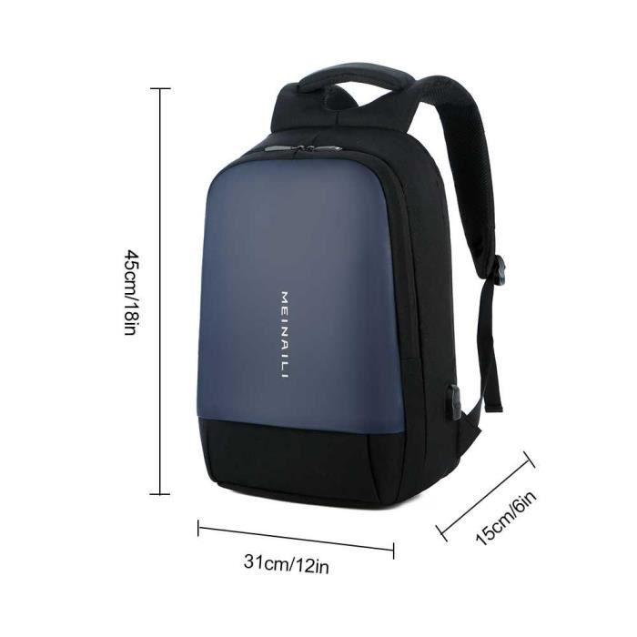 Simple Usb Homme Port Sac Ordinateur Mode Umiwe Multifonctionnel Pour À Dos Bleu Avec zqZWwgF0