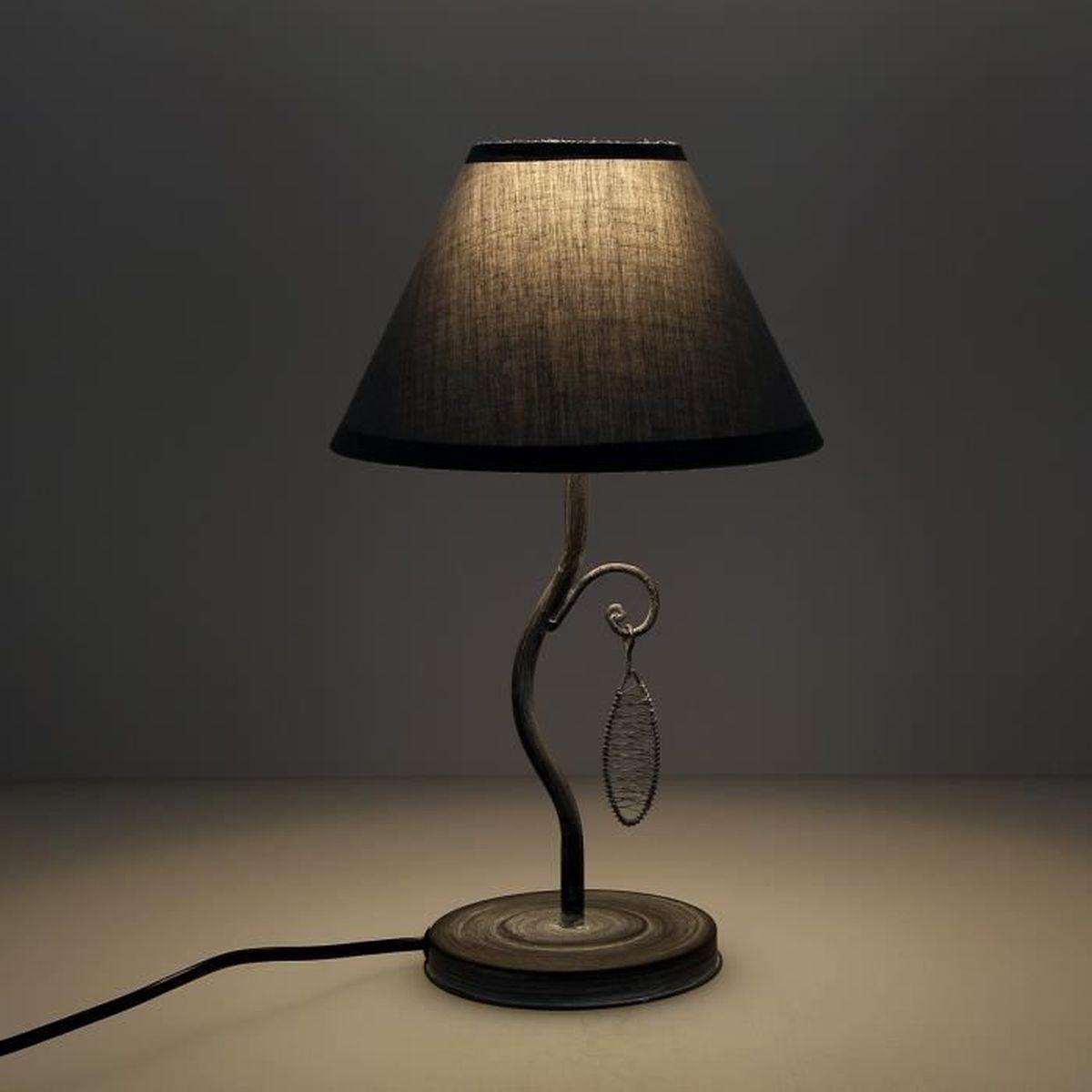 Möbel & Wohnen ® Große Tischleuchte Weiß Tischlampe H:8cm Lampe