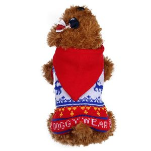 PULL - GILET Animaux de Noël Pull Rouge Sanimaux DOG5210