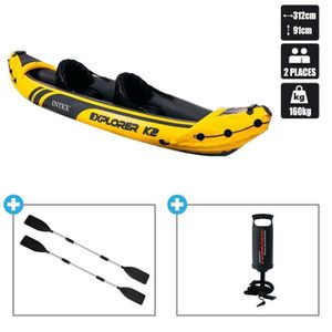KAYAK Canoe kayak 2 places gonflable + pagaie + pompe