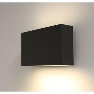 top applique applique murale updown led carre grise fonce with applique murale cdiscount. Black Bedroom Furniture Sets. Home Design Ideas