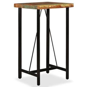 MANGE-DEBOUT TABLE DE BAR style contemporain-DEBOUT Bois de réc