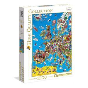 PUZZLE CLEMENTONI Carte d'Europe Puzzle 1000 pièces