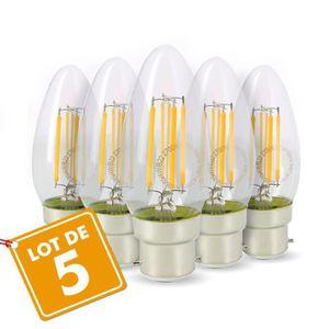 AMPOULE - LED Lot de 5 Ampoules Flamme Filament 4w eq. 40W Culot