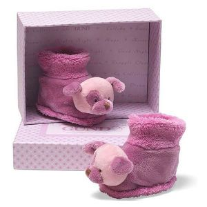 CHAUSSON - PANTOUFLE CHAUSSONS FRAMBOISE GUND BABY