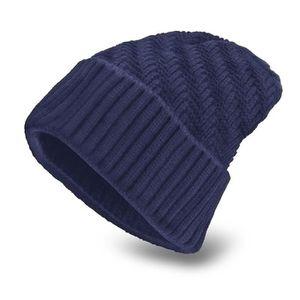 CHAPEAU , BOB Bleu Bonnet homme chapeau Tricoté Cap chauffant ch
