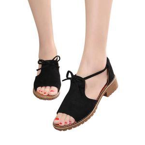 CHAUSSON - PANTOUFLE D'été Mesdames Femmes Sandales Cross Strap Sandale