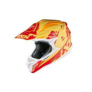 CASQUE MOTO SCOOTER Casque moto cross HX 179 FLASH jaune-orange-rouge