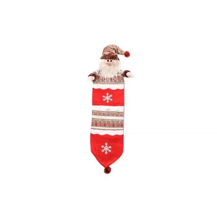 Personnage de Noël : Père Noël en tissu 70 cm
